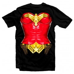 T-shirt Wonder Woman Super heros Girl - Femme noir