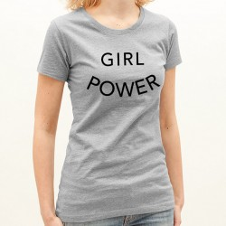 T-Shirt Femme Gris Girl Power