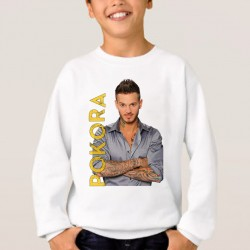 Sweat enfant Blanc Pokora Name