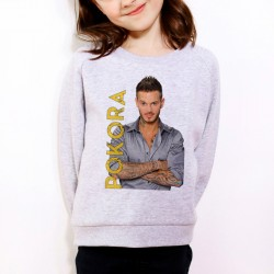 Sweat enfant Gris Pokora Name