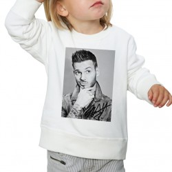 Sweat enfant Blanc Fan de ... Pokora Signature nb