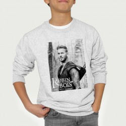 Sweat enfant Gris Fan de ... Pokora Robin de bois nb