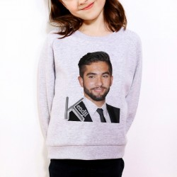 Sweat enfant Gris Fan de ... Kendji Girac