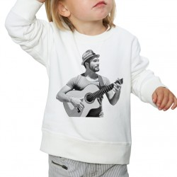 Sweat enfant Blanc Fan de ... Kendji Guitare