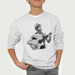 Sweat enfant Gris Fan de ... Kendji Guitare