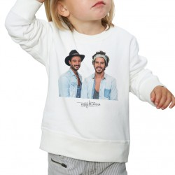 Sweat enfant Blanc Fan de ... Fréro Delavega