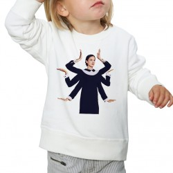 Sweat enfant Blanc Fan de ... Jain