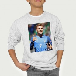 Sweat enfant Gris Fan de ... Antoine Griezmann