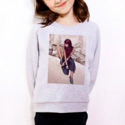 Sweat enfant Gris Fan de ... Shy'm