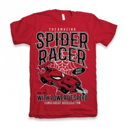 T-Shirt Spiderman Racer - homme rouge