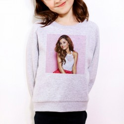 Sweat enfant Gris Fan de ... Ariana Grande