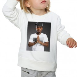 Sweat enfant Blanc Fan de ... Black M