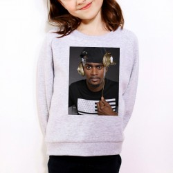 Sweat enfant Gris Fan de ... Black M casque