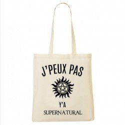 Tote Bag J'peux pas y'a Supernatural