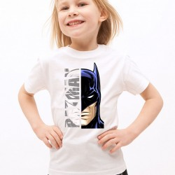 T-Shirt Enfant Blanc Super-héros Batman