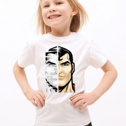 T-Shirt Enfant Blanc Super-héros Superman