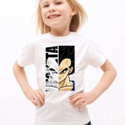 T-Shirt Enfant Blanc Super-héros Vegeta