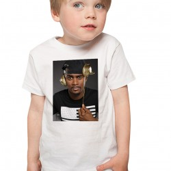 T-Shirt Enfant Blanc Black M casque
