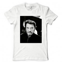 T-Shirt Fan de... Johnny Hallyday black and white