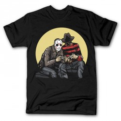 T-Shirt Jason and freddy Gamers - Homme noir