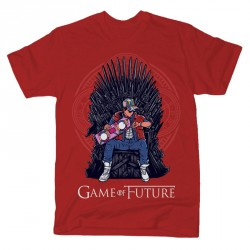 T-Shirt Marty McFly Game Of Future - Homme rouge brick