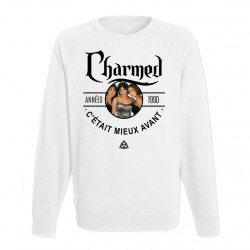 Sweat Adulte Blanc Années 90 - Charmed