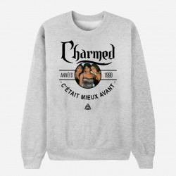 Sweat Adulte Gris Années 90 - Charmed