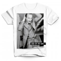 T-Shirt Chirac miroir What do you want - Homme blanc