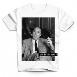 T-Shirt Chirac fume What do you want - Homme blanc