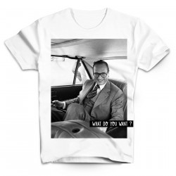 T-Shirt Chirac en voiture What do you want - Homme blanc