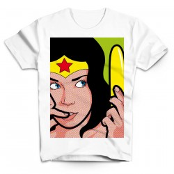 T-Shirt Wonder Woman - Homme blanc