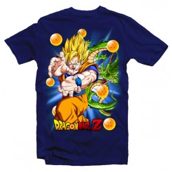 T-Shirt Dragon Ball Z Super Saiyan Manga - Homme bleu