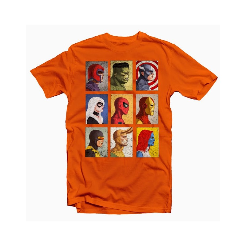 t shirt marvel spiderman hulk captain america iron man homme orange ketshooop t shirts