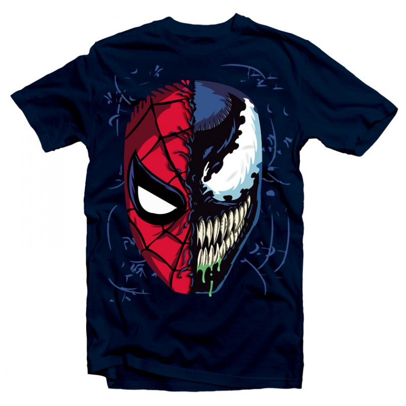 t shirt spider man venom marvel homme noir ketshooop t shirts anniversaires rigolos. Black Bedroom Furniture Sets. Home Design Ideas