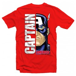 T-Shirt Captain America - homme rouge
