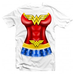 T-Shirt WONDER WOMAN déguisement - femme blanc
