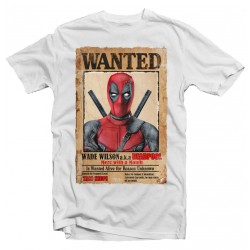 T-Shirt Deadpool wanted - Homme blanc