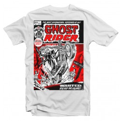 T-Shirt Ghost Rider Vintage Comic  - Homme blanc