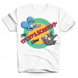 T-Shirt Itchy et Scratchy - Homme blanc