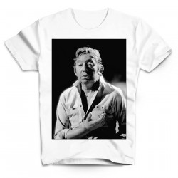 T-SHIRT GAINSBOURG - COL ROND HOMME BLANC /32/
