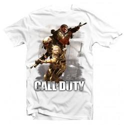 T-Shirt Call of Duty soldat - Homme blanc