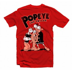 T-Shirt Popeye The Sailor - Homme rouge