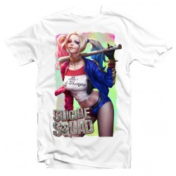 T-Shirt Suicide Squad Harley - Homme blanc
