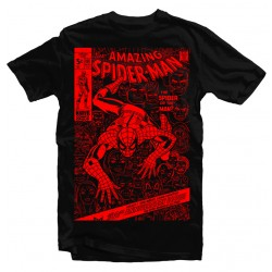 T-Shirt Spiderman Comic cover - Homme noir