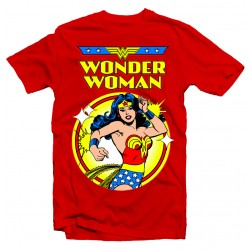 T-shirt Wonder Woman Comic Vintage - Femme rouge