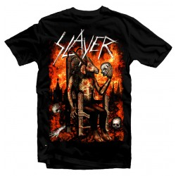 T-Shirt Slayer Rock Band Metal - Homme noir