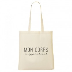 Tote Bag Mon corps m'appartient