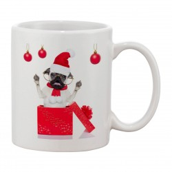 MUG Bouledogue surprise - Les Z'animaux de Noël