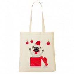 Tote Bag Bouledogue surprise - Les Z'animaux de Noël