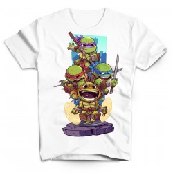T-Shirt Tortues Ninja - Homme blanc